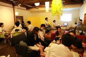 第1回オープンカフェ会津の様子